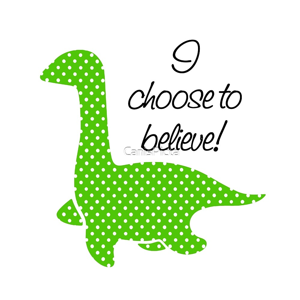 """""""Nessie"""" Lochness Monster Green Polka Dots Dotted Bright Cute Mythical Creature by CanisPicta"""