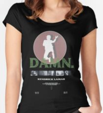 kendrick lamar damn kung fu kenny coachella Women's Fitted Scoop T-Shirt