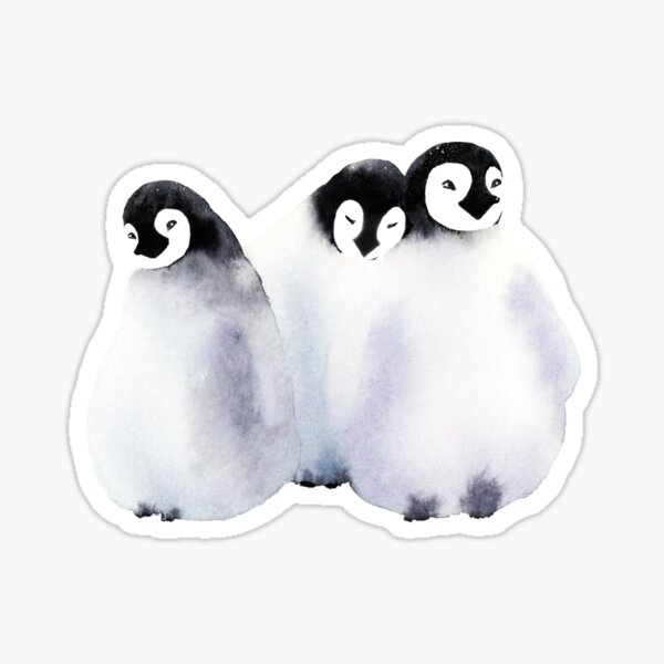 Fluffy Penguins - Baby Animals Sticker