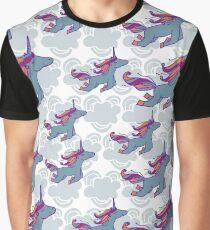 Seamless pattern with a unicorn  Graphic T-Shirt