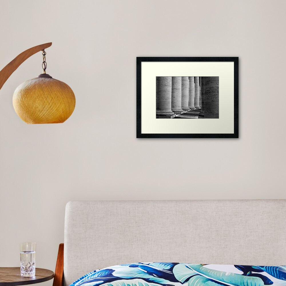Columns of St Peter's Framed Art Print