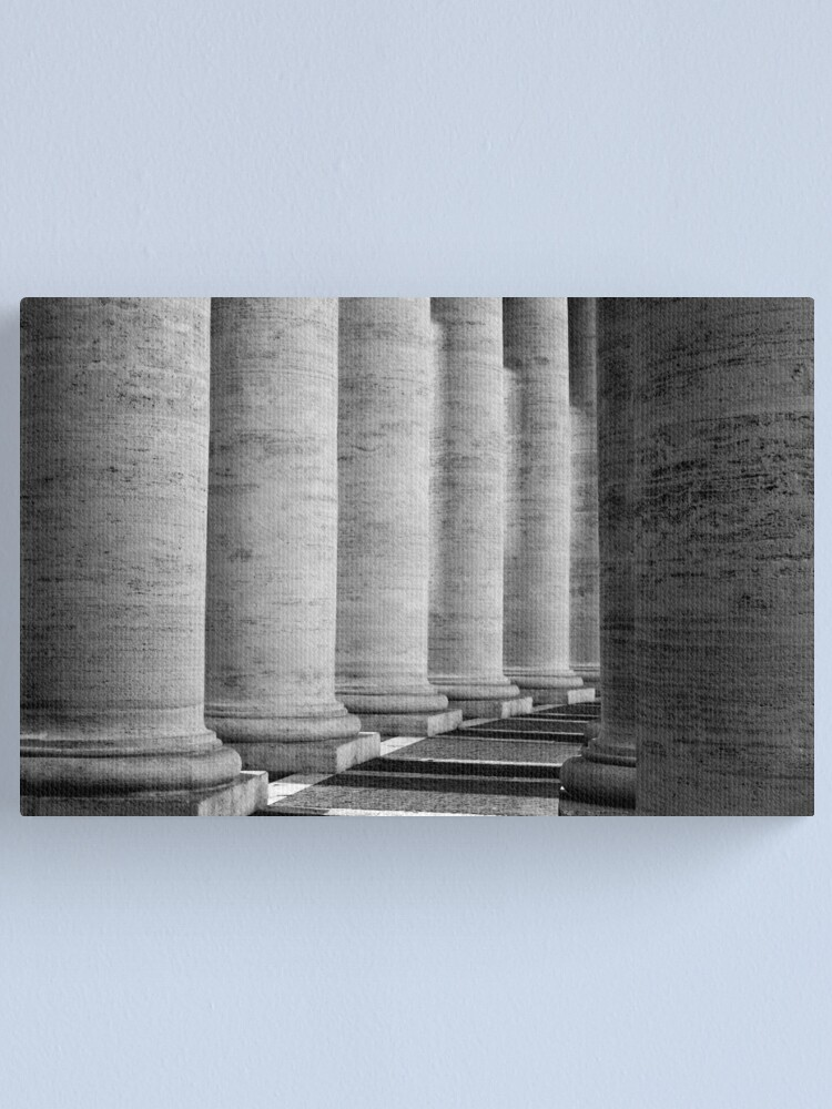 Alternate view of Columns of St Peter's Canvas Print