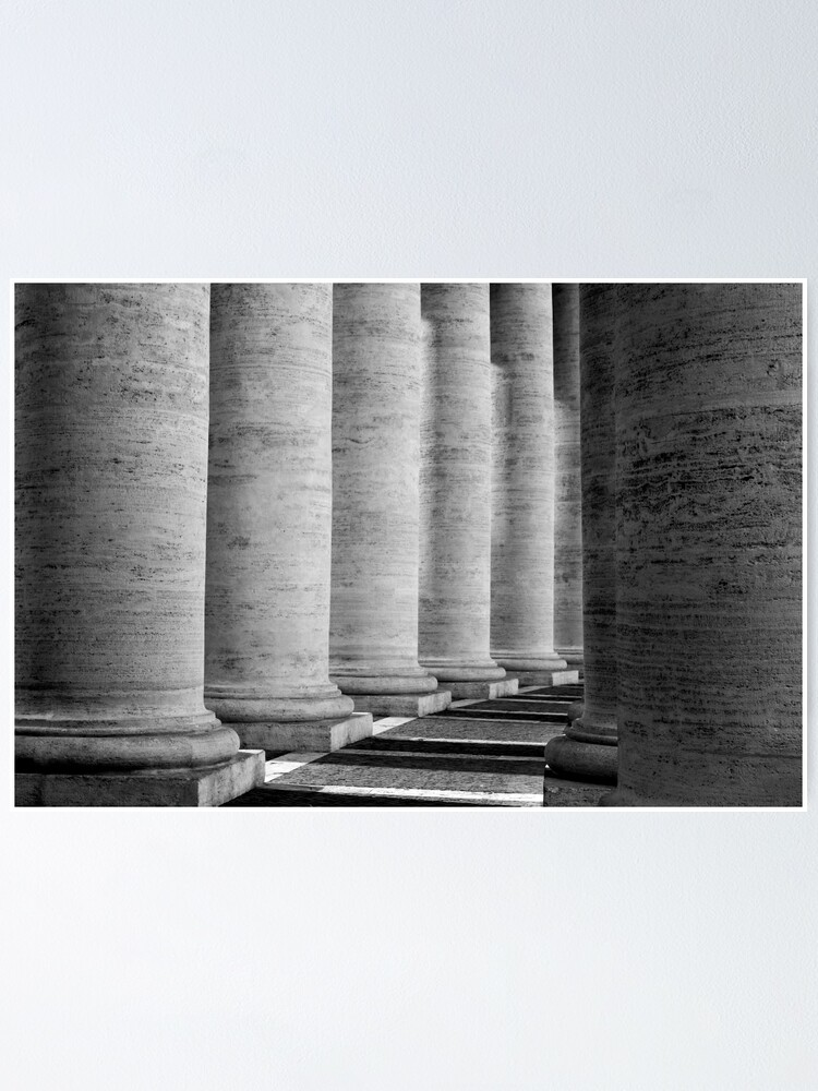 Alternate view of Columns of St Peter's Poster