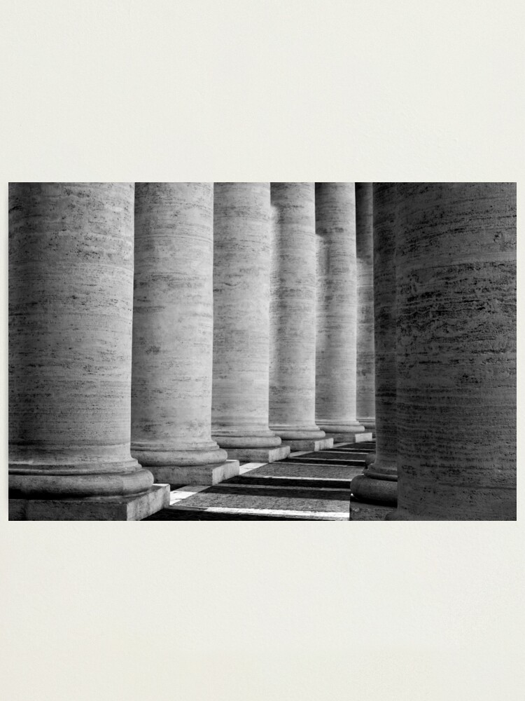 Alternate view of Columns of St Peter's Photographic Print