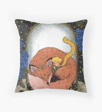 The Little Prince - Red version Throw Pillow