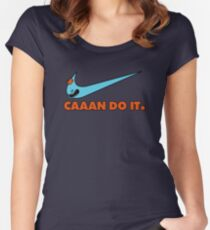 CAAAN DO IT. Rick and Morty Parody Women's Fitted Scoop T-Shirt