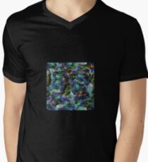 Gems + Minerals 9: Azurite, Turquoise + Malachite in Blue and Green Men's V-Neck T-Shirt