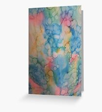 Alcohol ink! Greeting Card