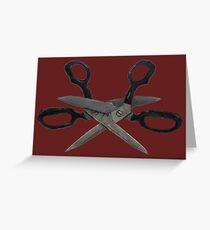 Scissoring Scissors Greeting Card