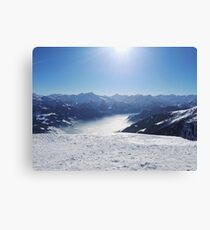 Below the Mountains, under the Snow Canvas Print