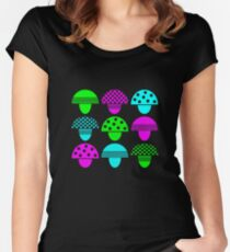 Magic Mushrooms Women's Fitted Scoop T-Shirt
