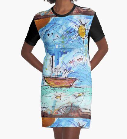 Battle Of The Lip Bombs Graphic T-Shirt Dress