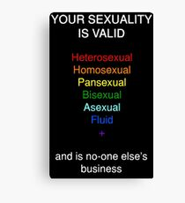 Your Sexuality is Valid Canvas Print