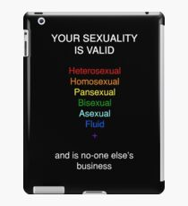 Your Sexuality is Valid iPad Case/Skin