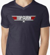 Top Gurn Men's V-Neck T-Shirt