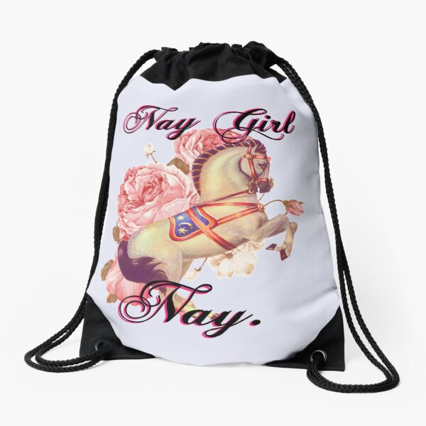 Nay Girl Nay Drawstring Bag