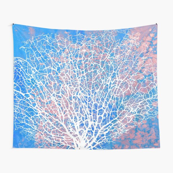 Abstract sea fan coral Tapestry
