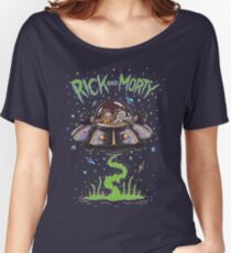 Rick And Morty Spaceship Women's Relaxed Fit T-Shirt