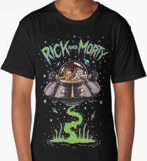 Rick And Morty Spaceship Long T-Shirt