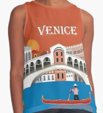 Venice, Italy - Skyline Illustration by Loose Petals Contrast Tank