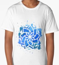 Mandala on blot background Long T-Shirt