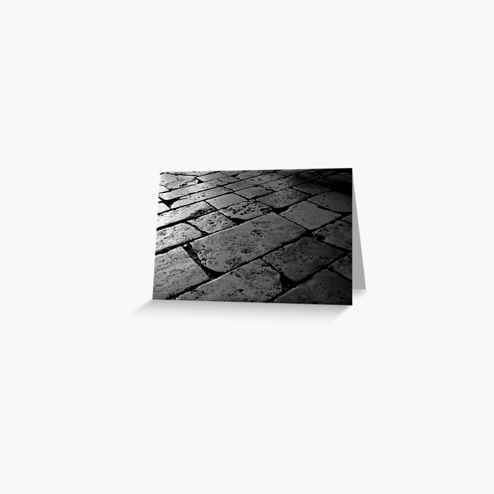 Colosseum Flagstones Greeting Card