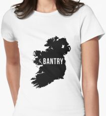 Bantry, Ireland Silhouette Women's Fitted T-Shirt