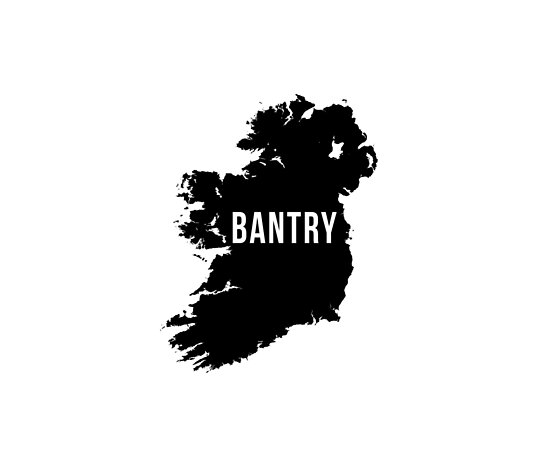 Bantry, Ireland Silhouette by CartoCreative