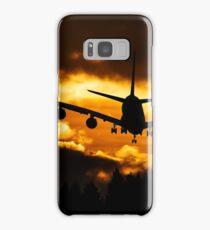 airplane sunset Samsung Galaxy Case/Skin