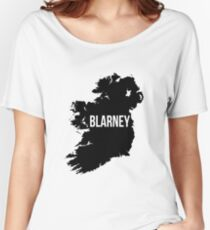 Blarney, Ireland Silhouette Women's Relaxed Fit T-Shirt