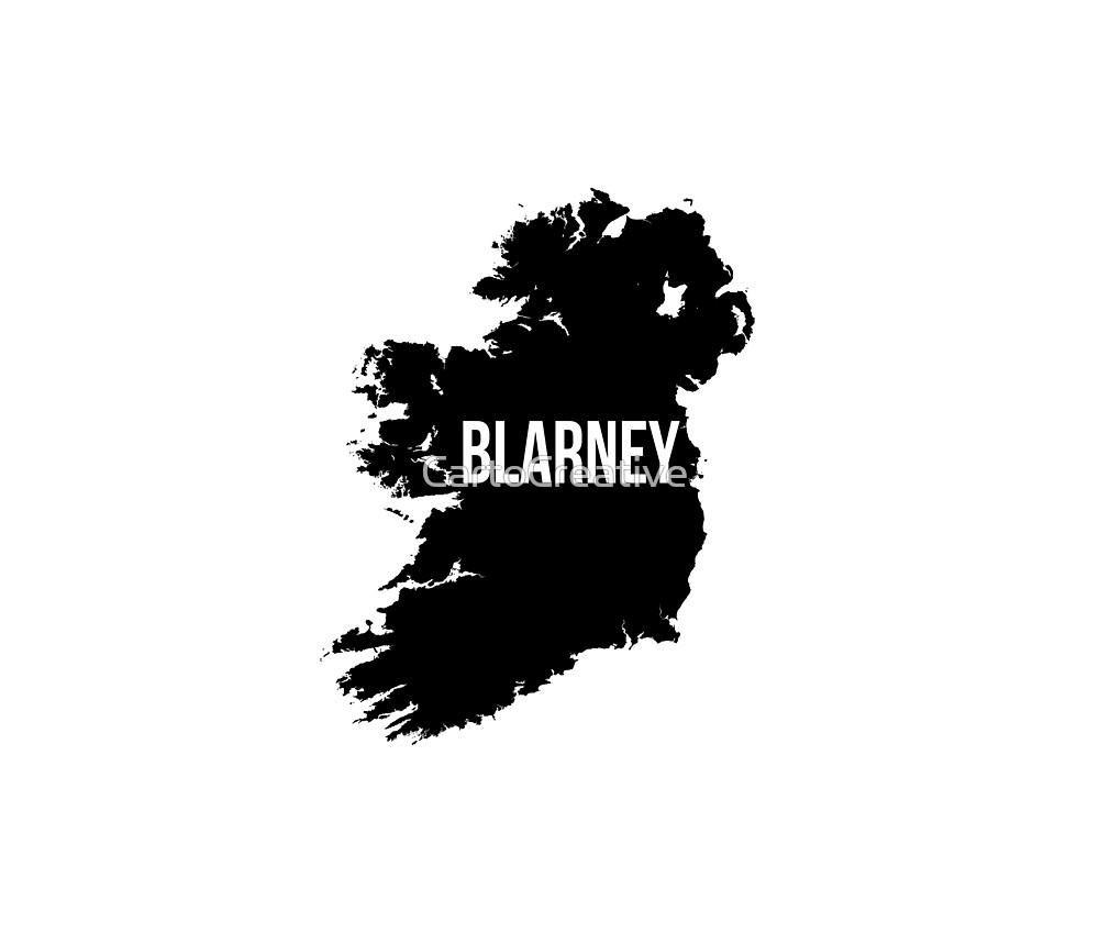 Blarney, Ireland Silhouette by CartoCreative