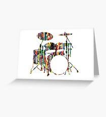 Rockin' Drum Kit Greeting Card