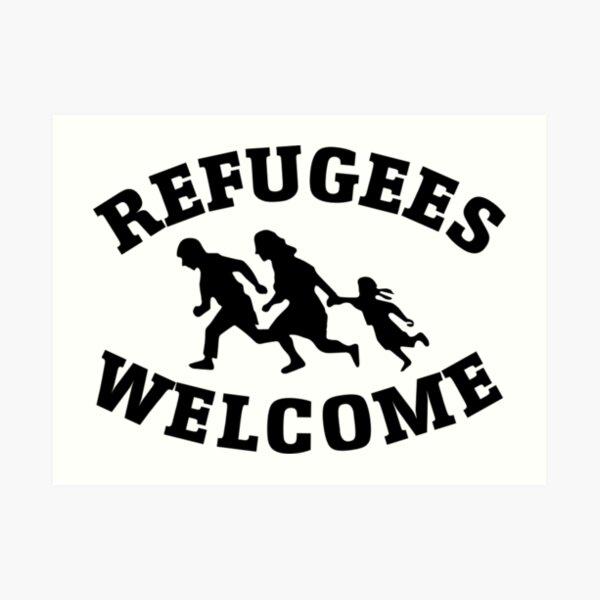 Refugees Welcome - Antifa Art Print