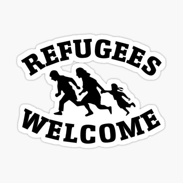 Bienvenidos refugiados - Antifa Pegatina