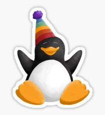 Happy Party Penguin Sticker