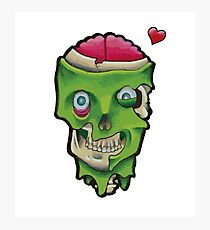 Zombie Love Photographic Print