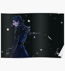 Ren black background Poster