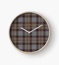 Tartan Outlander Clock