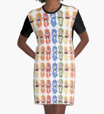 Inner Sailor Soldiers Graphic T-Shirt Dress