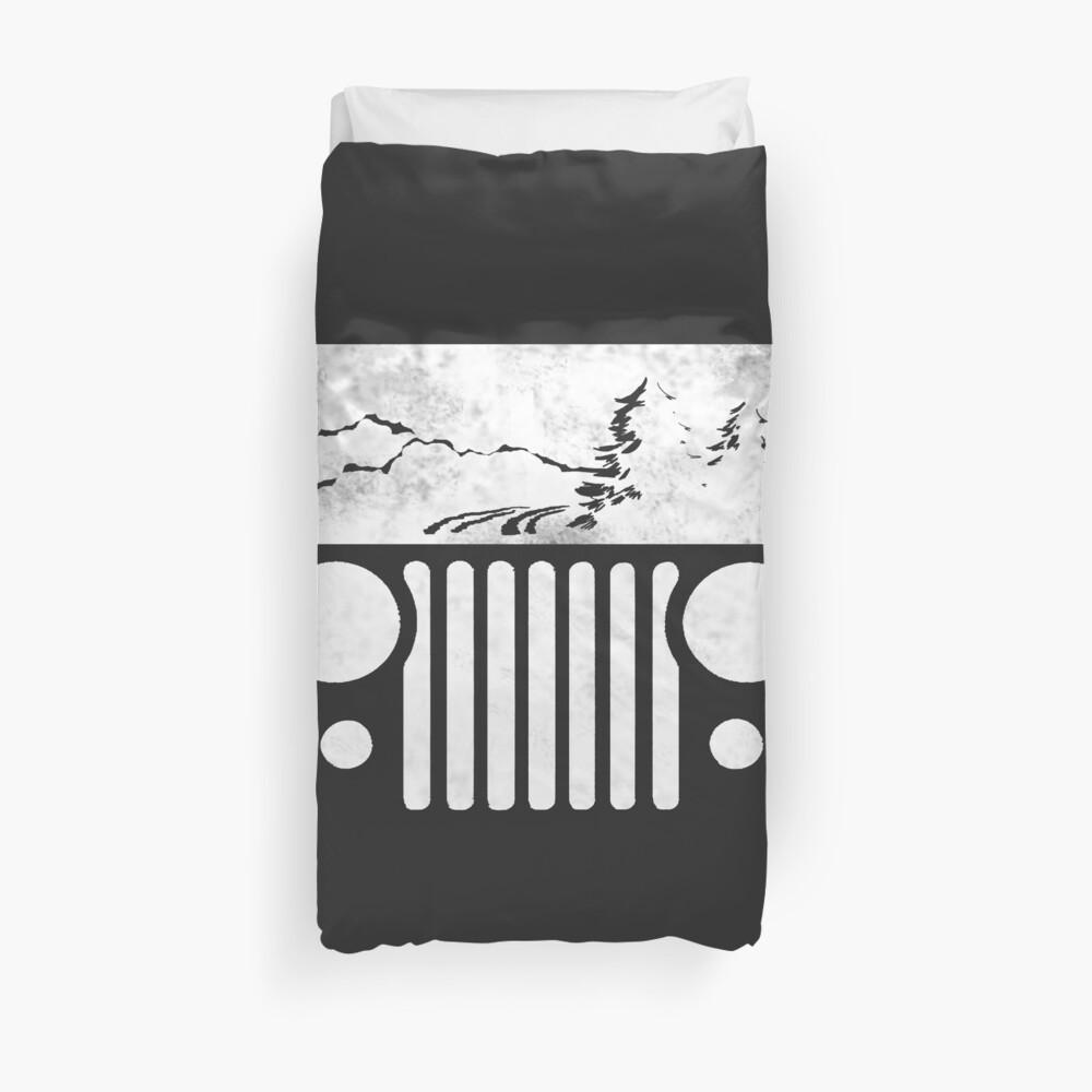 Abenteuerliches CJ Jeep T-Shirt Bettbezug