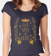 Save the Bees God Save the Queen Bee Women's Fitted Scoop T-Shirt