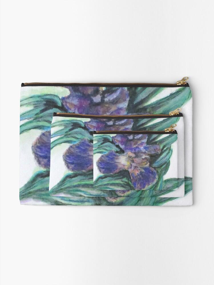 Alternate view of Spring Iris Bloom Zipper Pouch