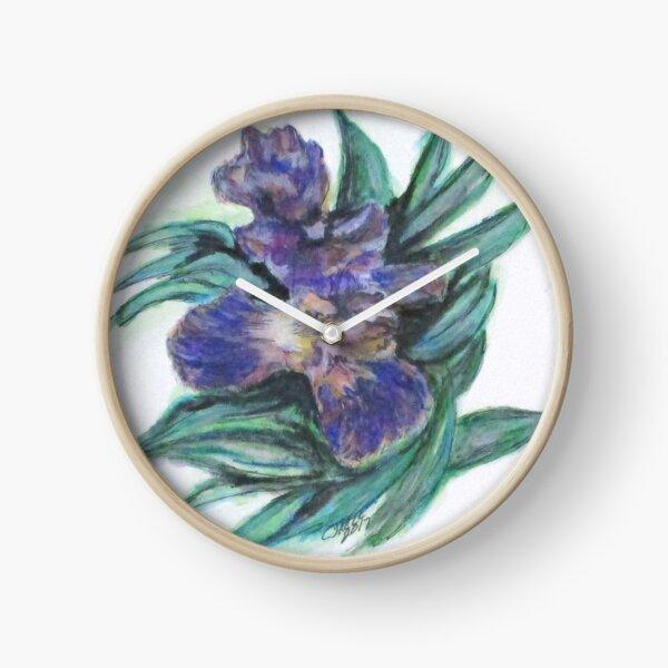 Spring Iris Bloom Clock