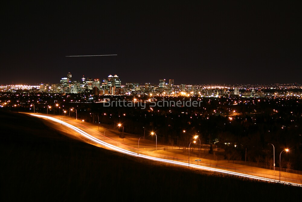 Calgary Skyline from Nose Hill Park by Brittany Schneider