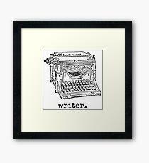 Writer Tshirt Framed Print