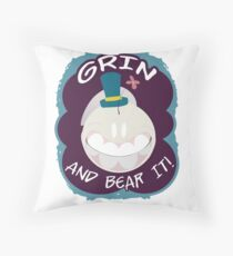 Grin And Bear It - Schnell design Throw Pillow