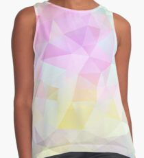 Abstract vector background of triangles, polygon wallpaper in pastel colors. Contrast Tank