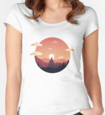 Watchtower Sunrise Women's Fitted Scoop T-Shirt