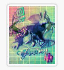 Donkey Kong Vaporwave  Sticker