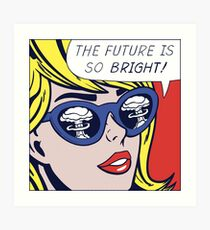 Pop Optimistic Girl Art Print